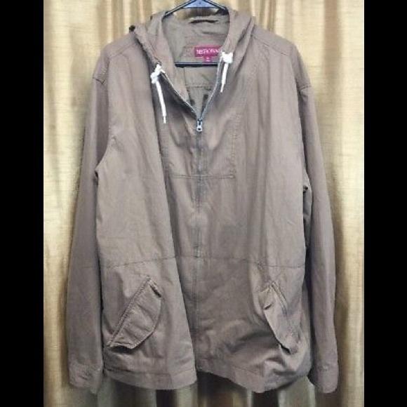 f9faeeb0d Mens Merona Beige Hooded Jacket NWT